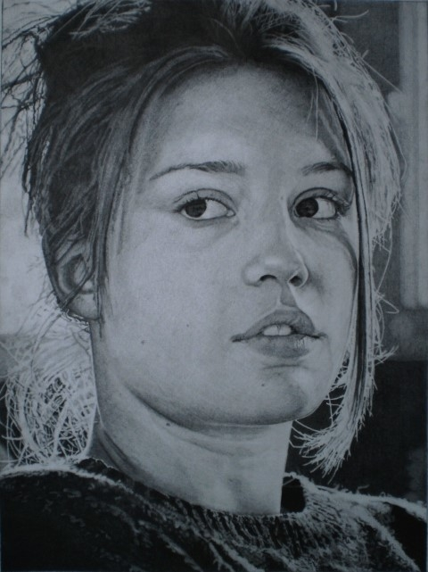 portrait of adele exarchopoulos by serbon on stars portraits